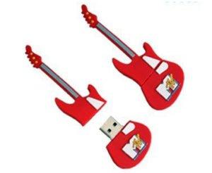 guitar shaped custom usb drive