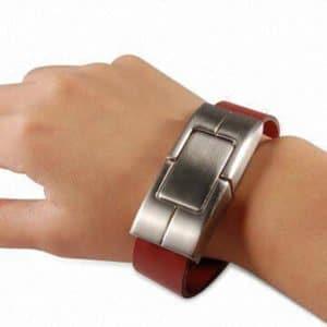 leather bracelet custom flash drive