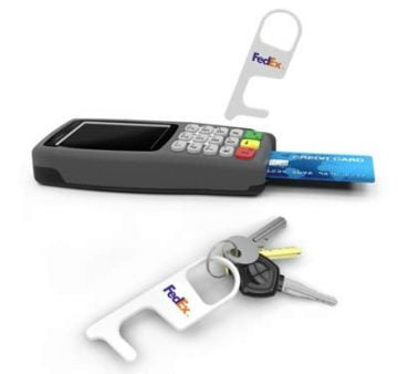 hygiene-hook-01 Printed no-contact key