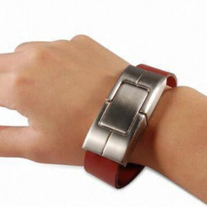 Leather Bracelet Custom Flash Drive For Executives