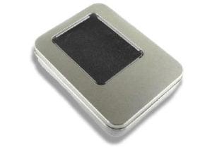 Rectangular Metal Window Tin for promotional usb memory