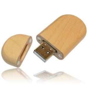 Rounded Hardwood USB