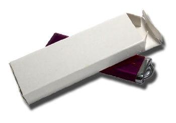 White Tuck-End Box for promotional USB keys