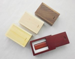 Wood Crate for custom flash drives
