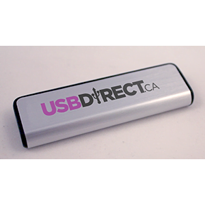 Brushed Metal Slider USB