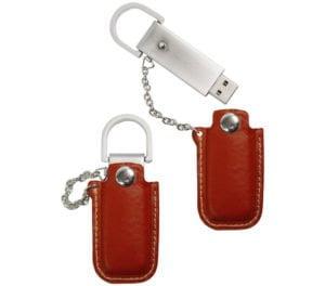 Leather Pocket Custom USB Drive