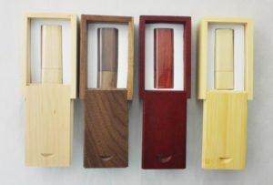 Wood Crate for branded flash keys